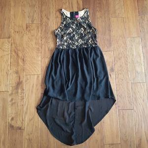 Xhilaration High-Low Lace Cutout Zipper Back Dress